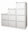 Grey Metal 2, 3, & 4-Drawer Filing Cabinets