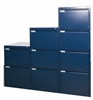 Blue Metal 2, 3, & 4-Drawer Filing Cabinets