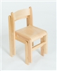 Set Of 2 Natural Wood Stacking Classroom Chair