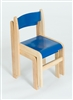 Set Of 2 Blue / Natural Wood Stacking Classroom Chair