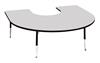 Height-Adjustable Horseshoe Table
