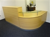 Oak Reception Counter Desk