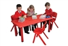 Red Rectangular Table