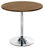 Walnut Trumpet Base Cafe / Bistro Table