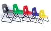 Hille E-Series Skid Base Plastic Chairs