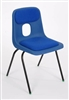 Hille E-Series Plastic Chair With Fabric Seat & Back Pad